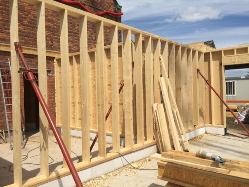 monteren houtskeletbouw