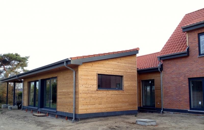 renovatie bestaande woning + aanbouw in houtskelet