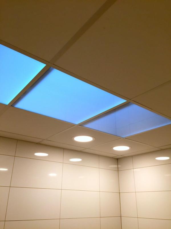 renovatie sanitaire ruimte - plaatsen tegelplafond