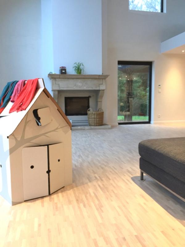 woonkamer met vide en mezzanine