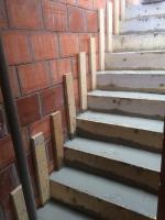 betonwerken: gieten trappen