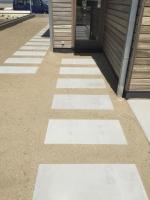 plaatsen van vloerplaten in beton